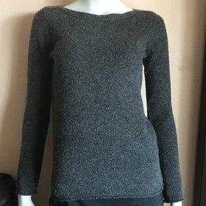 Madewell Gray Boatneck Merino Wool Knit Sweater